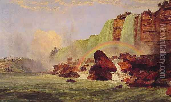 Niagara Falls with a View of Clifton House Oil Painting - Jasper Francis Cropsey