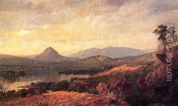 Adam and Eve Mountains Oil Painting - Jasper Francis Cropsey