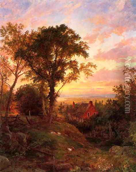 The Old Home Oil Painting - Jasper Francis Cropsey