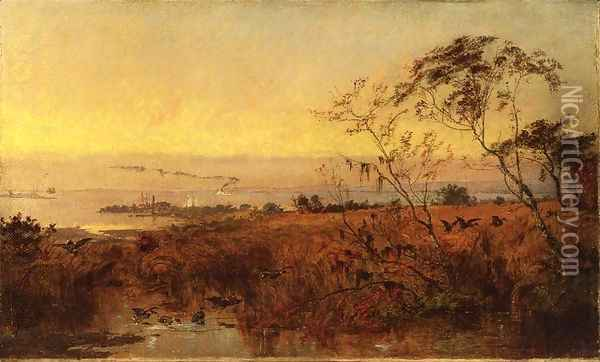 View on the Chesapeake Bay Oil Painting - Jasper Francis Cropsey