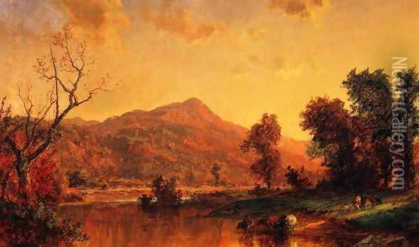On the Susquehanna Oil Painting - Jasper Francis Cropsey