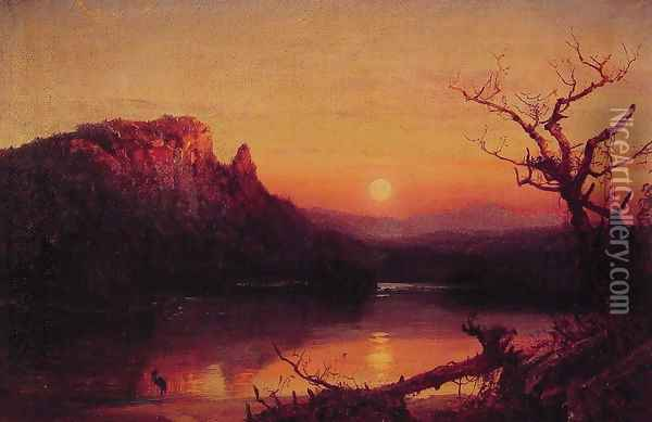 Sunset, Eagle Cliff, New Hampshire Oil Painting - Jasper Francis Cropsey