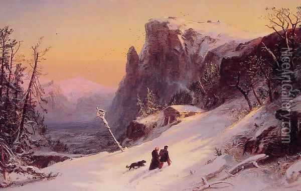 Winter in Switzerland Oil Painting - Jasper Francis Cropsey