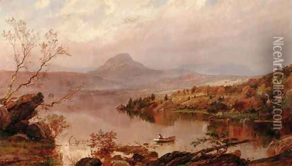 Sugarloaf from Wickham Lake, 1876 Oil Painting - Jasper Francis Cropsey