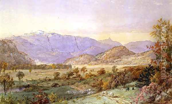 Early Snow on Mount Washington Oil Painting - Jasper Francis Cropsey