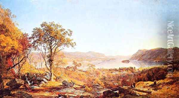 Indian Summer Oil Painting - Jasper Francis Cropsey