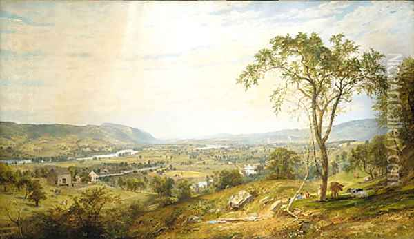 The Valley of Wyoming Oil Painting - Jasper Francis Cropsey