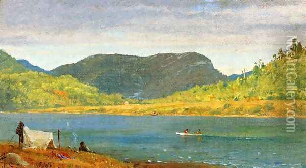 Greenwood Lake II Oil Painting - Jasper Francis Cropsey