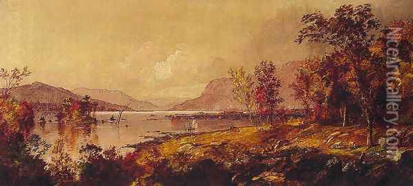 Greenwood Lake, New Jersey, in September Oil Painting - Jasper Francis Cropsey