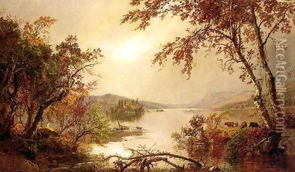 Greenwood Lake I Oil Painting - Jasper Francis Cropsey