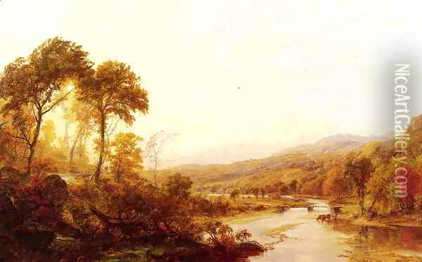 Headwaters of the Hudson Oil Painting - Jasper Francis Cropsey