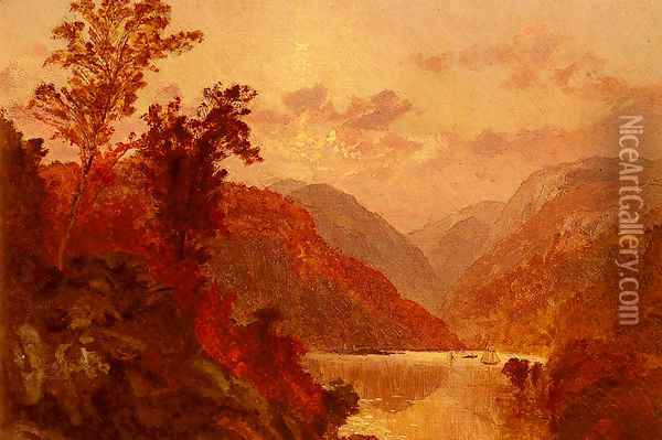 In The Highlands Of The Hudson Oil Painting - Jasper Francis Cropsey