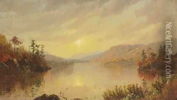 Greenwood Lake, New Jersey I Oil Painting - Jasper Francis Cropsey