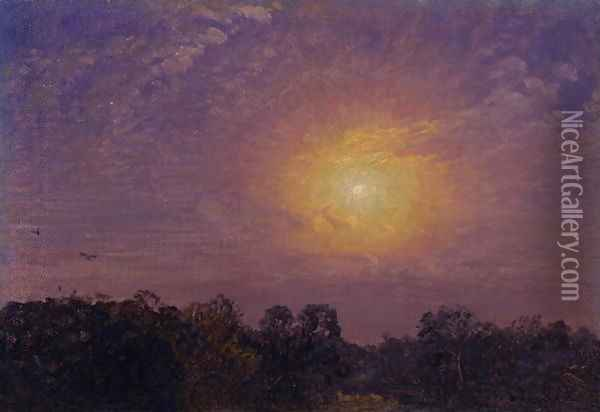 Evening, 1859 Oil Painting - Jasper Francis Cropsey