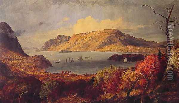 Gates of the Hudson Oil Painting - Jasper Francis Cropsey