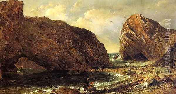 By the Sea, Lulworth Oil Painting - Jasper Francis Cropsey