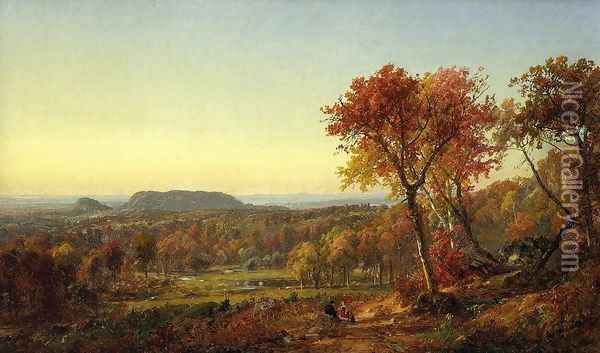 Mounts Adam and Eve Oil Painting - Jasper Francis Cropsey