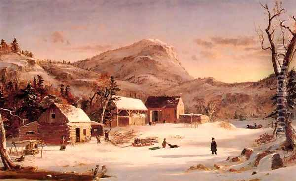 Winter in the Rockies Oil Painting - Jasper Francis Cropsey