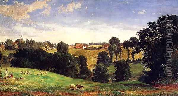 View of Stifford Oil Painting - Jasper Francis Cropsey