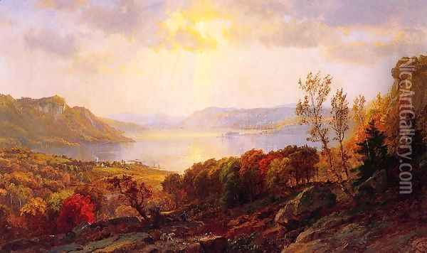 On the Hudson near West Point Oil Painting - Jasper Francis Cropsey