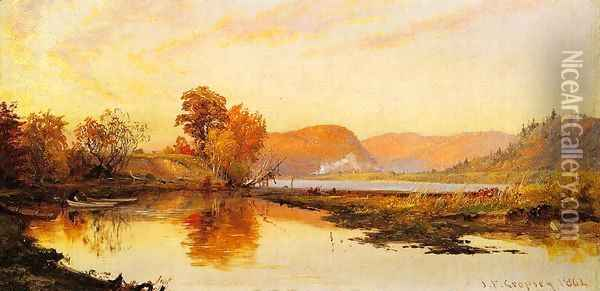 The Lake Oil Painting - Jasper Francis Cropsey