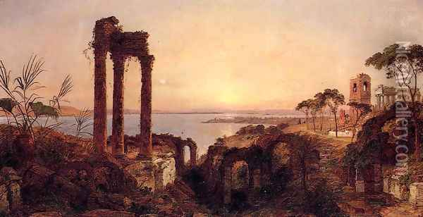The Bay of Naples Oil Painting - Jasper Francis Cropsey