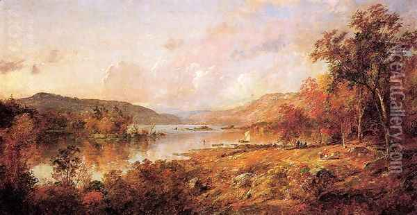 Greenwood Lake in September Oil Painting - Jasper Francis Cropsey