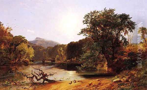 In the White Mountains Oil Painting - Jasper Francis Cropsey