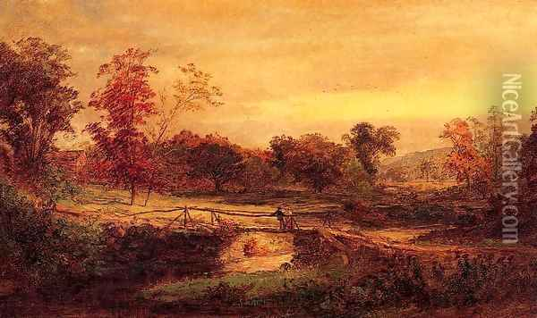 The Meeting Oil Painting - Jasper Francis Cropsey