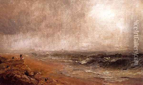 Looking out to Sea Oil Painting - Jasper Francis Cropsey