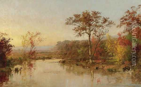 On the Susquehanna 2 Oil Painting - Jasper Francis Cropsey
