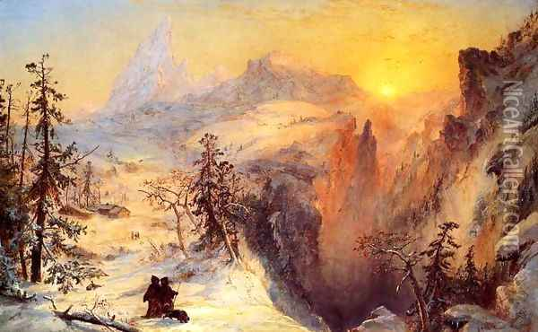 Winter in Switzerland 2 Oil Painting - Jasper Francis Cropsey