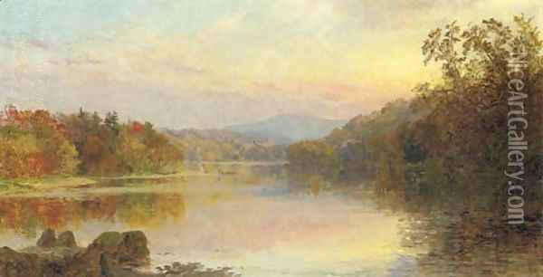 The Campfire Oil Painting - Jasper Francis Cropsey