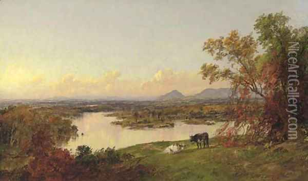 Mounts Adam and Eve, Orange County, New York Oil Painting - Jasper Francis Cropsey