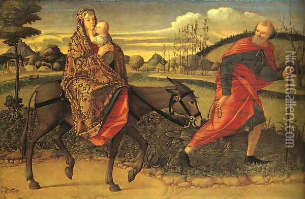 The Flight into Egypt 1500 Oil Painting - Vittore Carpaccio