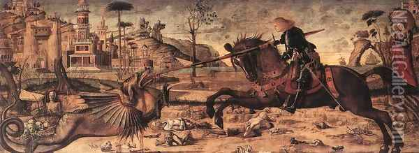 St George and the Dragon 1502 Oil Painting - Vittore Carpaccio