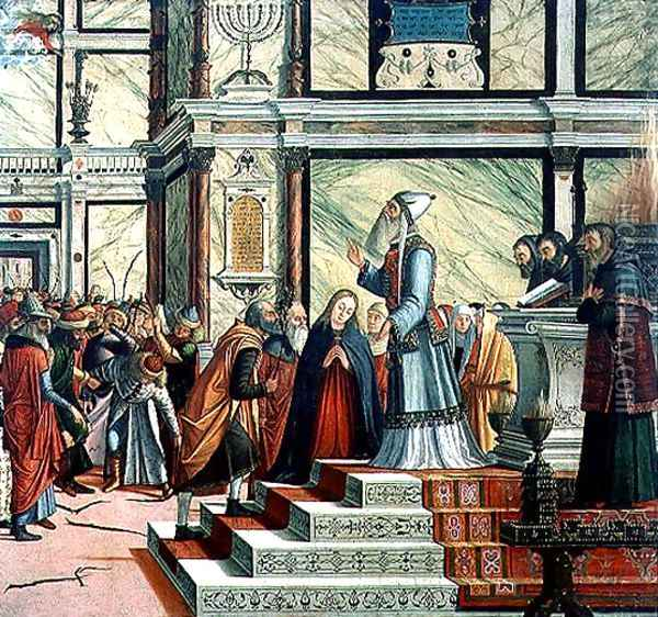 Wedding of the Virgin, oil on canvas, 1504-8 Oil Painting - Vittore Carpaccio