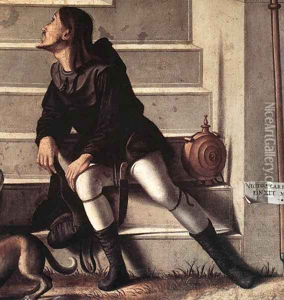 St Stephen is Consecrated Deacon [detail: 1] Oil Painting - Vittore Carpaccio