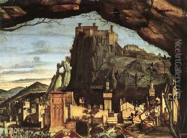 Holy Conversation (detail) Oil Painting - Vittore Carpaccio