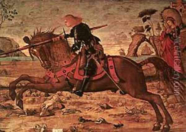 Carpaccio St George and the Dragon detail1 Oil Painting - Vittore Carpaccio