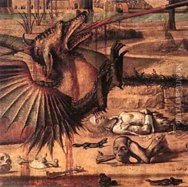 Carpaccio St George and the Dragon detail2 Oil Painting - Vittore Carpaccio