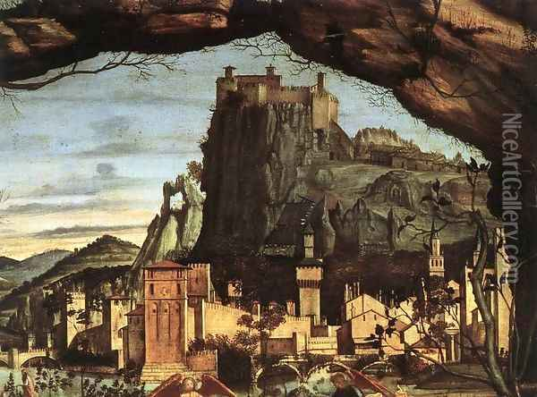 Holy Conversation (detail) 2 Oil Painting - Vittore Carpaccio