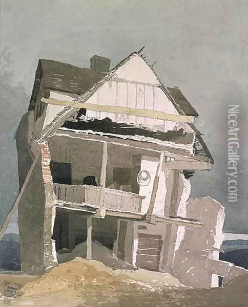 A Ruined House Oil Painting - John Sell Cotman