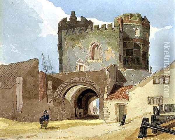The South Gate, Great Yarmouth, Norfolk Oil Painting - John Sell Cotman