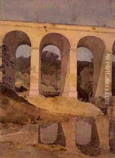 Chirk Aqueduct, 1806-7 Oil Painting - John Sell Cotman