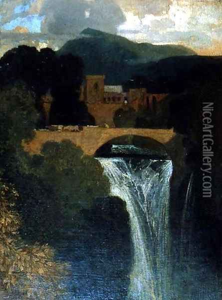 The Waterfall Oil Painting - John Sell Cotman
