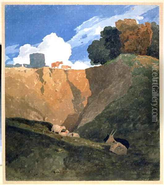 The Marl Pit c.1809-10 Oil Painting - John Sell Cotman