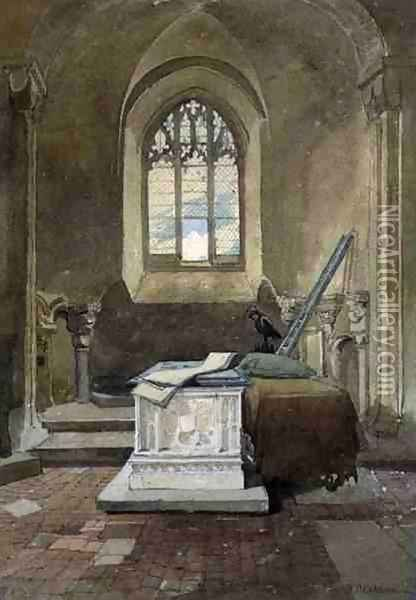 Jesus Chapel, Norwich Cathedral, c.1807 Oil Painting - John Sell Cotman