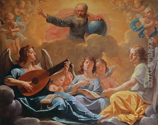 A Concert of Angels Oil Painting - Philippe de Champaigne
