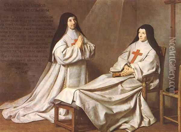 Portrait of Mother Catherine-Agnes Arnauld (1593-1671) and Sister Catherine of St. Suzanne Champaigne (1636-86) the artist's daughter, 1662 Oil Painting - Philippe de Champaigne